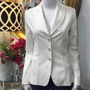 ELIE Tahari White Structured Blazer